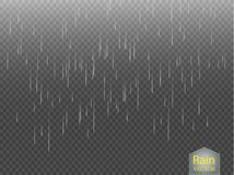 Rain transparent template background. Falling water drops texture.. Rain transparent template background. Falling water drops texture. Nature rainfall on Stock Photography
