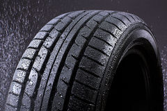 Rain Tyre Royalty Free Stock Image