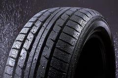 Rain Tyre. Heavy Rain Tyre vor the Shop royalty free stock image