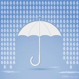 Rain and umbrella. Vector illustration of umbrella with rain Royalty Free Stock Photography