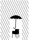 Rain and umbrella Royalty Free Stock Photo