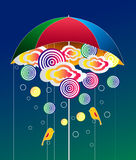 Rain and Umbrella abstract Royalty Free Stock Photography