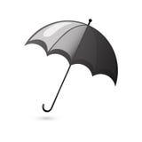 Rain umbrella black Stock Images