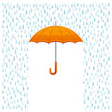Rain and umbrella. On a white background stock illustration