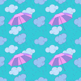 Rain and umbrellas Royalty Free Stock Photo