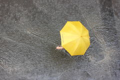 In the rain under an umbrella Royalty Free Stock Photography