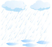 Rain vector royalty free illustration