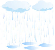 Rain vector Royalty Free Stock Image