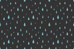 Rain vector seamless pattern. Gray. Rain vector seamless pattern, dark cold autumn night. Desaturated colors. Big blue raindrops falling from the dark sky Royalty Free Stock Photography