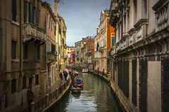 Rain in Venice royalty free stock photography