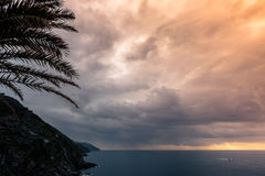 Rain in Vernazza Stock Images