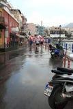 Rain in Agios Nikolaos Stock Images