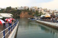 Rain in Agios Nikolaos Royalty Free Stock Photos