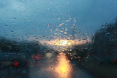 The rain. View from the window in the rain Stock Image