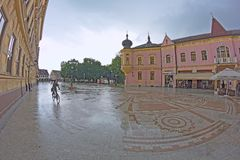 Rain in Vinkovci Royalty Free Stock Photography