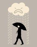 Rain walking Stock Image