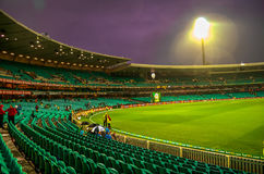 Rain Washed India South Africa match in the Sydney Cricket Groun stock photo