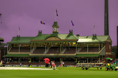 Rain Washed India South Africa match in the Sydney Cricket Groun Royalty Free Stock Images