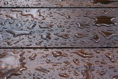 Rain. Water autumn sky cloud clouds storm ing drops wood table outdoor reflection lights season fresh cold line lines Stock Photos