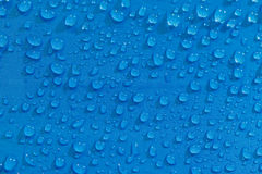 Rain Water droplets on  waterproof fabric Stock Photography