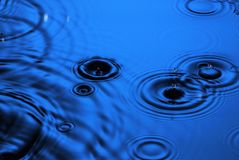 Rain Water Drops Background Royalty Free Stock Photography