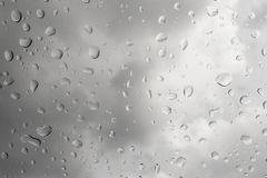 Rain and water drops background, selective focus Royalty Free Stock Photos