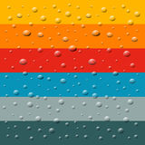 Rain, Water Drops. On Retro Colorful Background Stock Photo