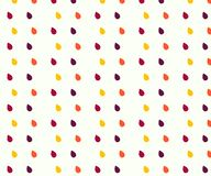 Rain Water drops Seamless vector pattern. 3 color yellow, violet vector illustration