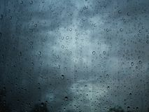 Rain water drop on window glass background. Rain water drops on window glass background Royalty Free Stock Photos