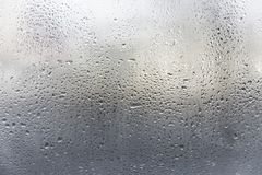 Rain or water drops on window glasses. Abstract background Royalty Free Stock Images