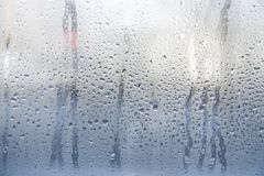 Rain or water drops on window glasses. Abstract background Stock Photography