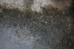 Rain water leaks on cement damage peeling paint and moldy. Royalty Free Stock Images