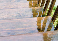 Rain Water on Stairs Royalty Free Stock Images