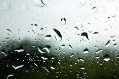 Rain water on window Royalty Free Stock Images