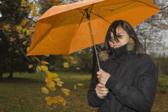 Rain weather. In autumn the weather is very changeable and often it is raining Stock Photo