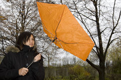 Rain weather. In autumn the weather is very changeable and often it is raining Royalty Free Stock Image