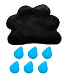 Rain weather forecast icon symbol plasticine clay Stock Photos