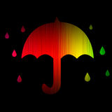 Rain weather spectrum glowing isolated on black Stock Photography