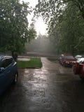 Rain. Weather storm city summer Stock Photo