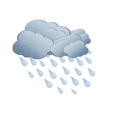 Rain on white background Royalty Free Stock Images