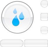 Rain white button. Stock Photos