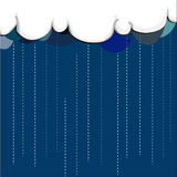 Rain. White cloud with color of shadow that above blue sky, it is raining Stock Photography