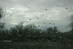 Rain on the window Royalty Free Stock Images