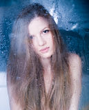 Rain at the window Royalty Free Stock Photo