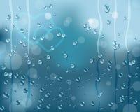 Rain on window. As background. Eps10 vector royalty free illustration