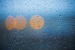 Rain on window Royalty Free Stock Images