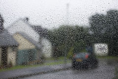 Rain on window Stock Images
