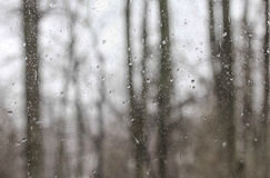 Rain on Window Glass Royalty Free Stock Photos