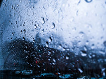 Rain on a window Stock Images