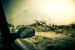 Rain on window Royalty Free Stock Photo
